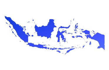 blue gradient map of Indonesia