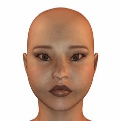 Face of an asiatic Woman