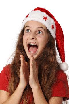 Joie , plaisir  et impatience  d'un enfant a Noël