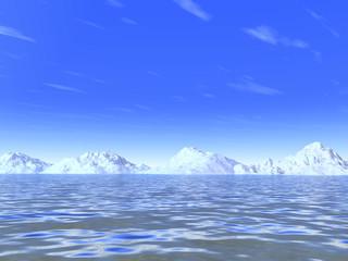 snow-white cold mountains