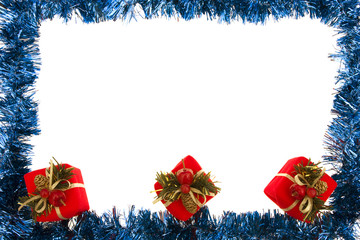 Blue Garland with Gifts