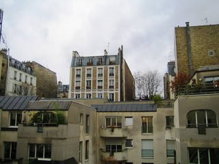 Immeubles du quartier latin à Paris