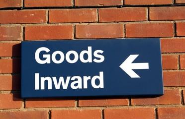 sign. goods inward.
