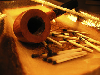 Pipe and matches