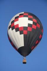 White-red-black balloon