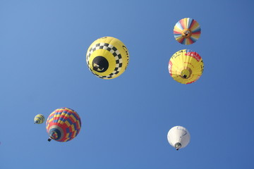 Balloon group in the sky
