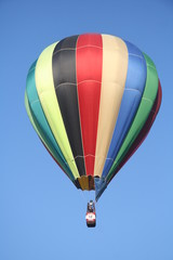 Colored striped balloon