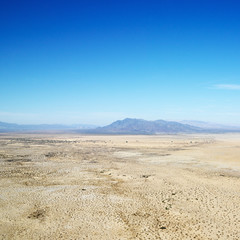 Desert and mountains.
