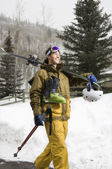 Man in ski gear.