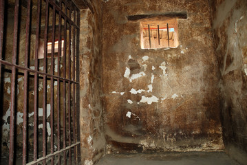 Dirty jail cell