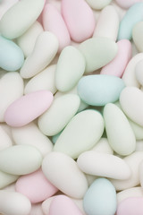 Close-up background of  colored smarties candy
