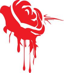 Grungy Rose Illustration