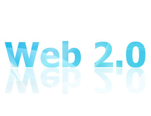 The Web 2.0 symbol which represents the internet