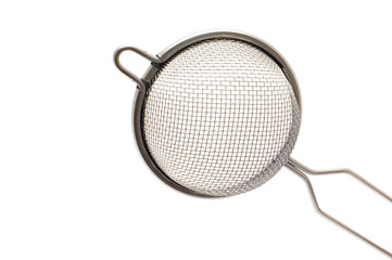 metal colander close up