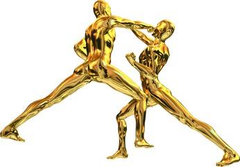 Gold Kampf Statue