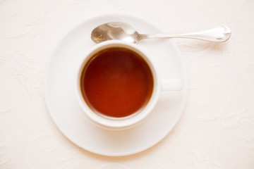 just tea cup from below