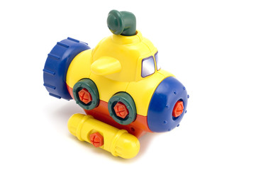object on white - toy - model submarine