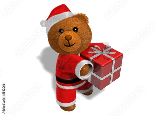 Nounours p re no l fond blanc stock photo and royalty free images on pic 5362066 - Nounours noel ...