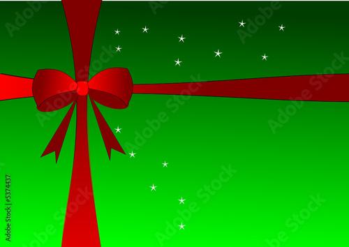 cadeau vert et noeud rouge fichier vectoriel libre de droits sur la banque d 39 images fotolia. Black Bedroom Furniture Sets. Home Design Ideas
