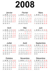 2008 French calendar