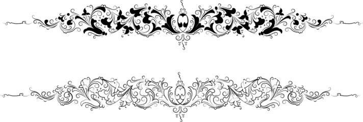 Baroque Two Styles: Traditional and Calligraphy.