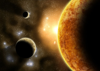 Wall Mural - Outer planets