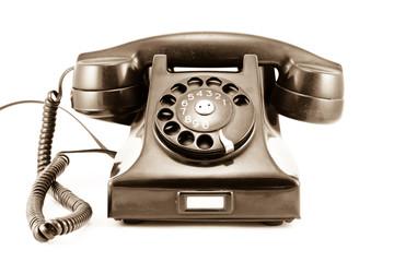 1940s Era Phone - Old Sepia Photo