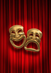 Classical comedy-tragedy masks