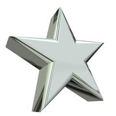 Silver 3D star