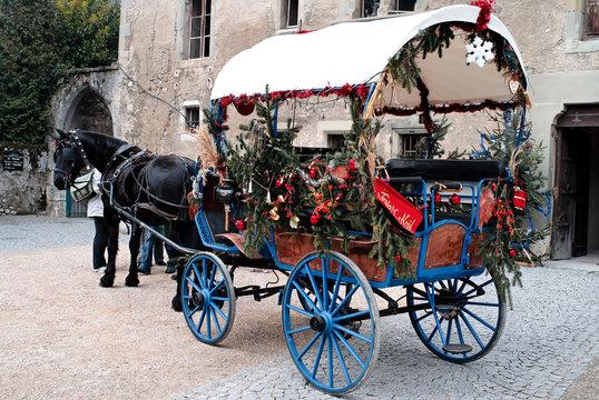 Calèche de Noël (Savoie)