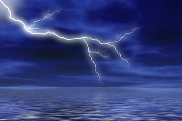 tormenta en la noche