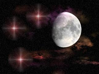 Galaxy real moon