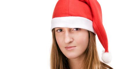 Girl in santas hat