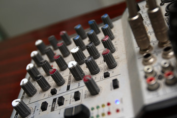 The retro vision control desk when in use