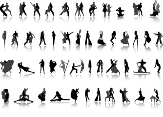 Dancing. Vector silhouettes for your design. Part 2