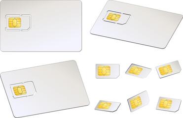 Cartes SIM, image vectorielle