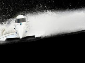 White speed boat