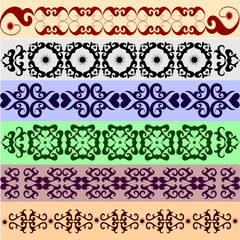 Collection of ornament decorative elements