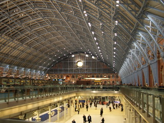 Photo sur Toile Gares St Pancras International