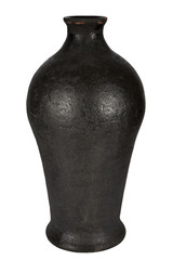 Beautiful ancient vase on a white background