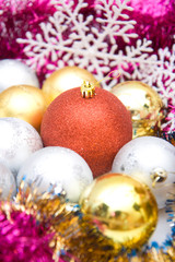 Colorful christmas decoration set
