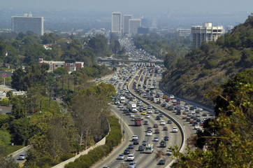 Traffic Los Angeles Downtown