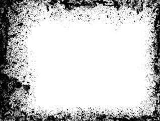 Simple black and grey on white spatter grunge border