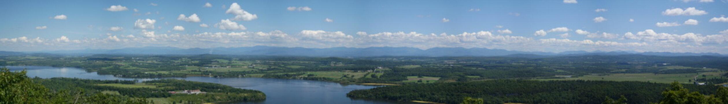 Panoramic View of Adirondack Mountains