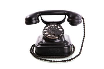Retro phone isolated on white