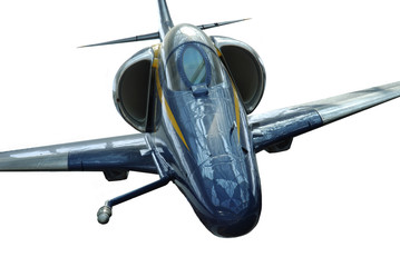 Image of a front view of Military fighter jet