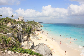 Papiers peints Mexique Tulum beach
