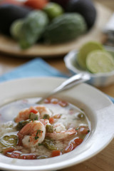 Nopales and Prawn Soup