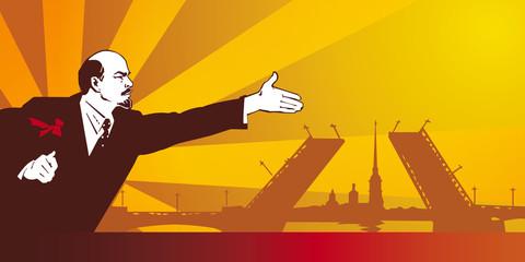 poster sowjet style lenin