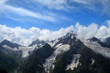 Main Caucasus range. Dombai, Caucasus, Russia.